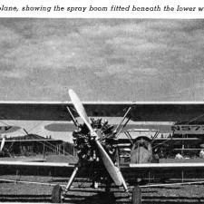 Photo of a Stearman plan with spray boom